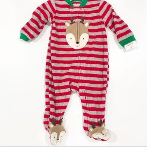 Carters Christmas Pajamas Reindeer Holiday Pj's